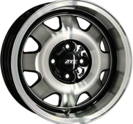 "15"" ATS CUP - Gloss Black / Polished 7x15 - ET28"