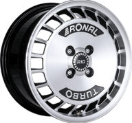 "15"" RONAL R10 TURBO - Gloss Black / Polished 7x15 - ET28"
