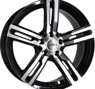 "18"" INTER ACTION KARGIN - Gloss Black / Polished 8,5x18 - ET45"