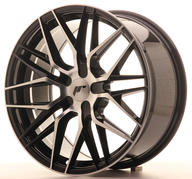 "18"" JAPAN RACING JR28 BLACK MACHINED"