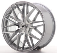 "18"" JAPAN RACING JR28 SILVER MACHINED"