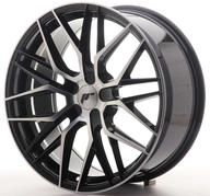 "19"" JAPAN RACING JR28 BLACK MACHINED"