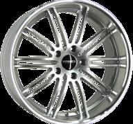 "18"" MONACO CHICANE - Hyper Silver / Polished 9,5x18 - ET35"