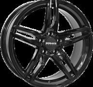 "17"" MONACO GP1 - Glossy Black 7,5x17 - ET52"