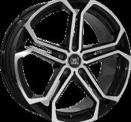 "20"" SOLEIL LXS1 - Black Metallic / Polished 8,5x20 - ET40"