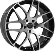 "19"" SOLEIL LXM-1 - Gloss Black / Polished 8,5x19 - ET35"
