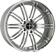 "19"" MONACO CHICANE - Hyper Silver / Polished 9,5x19 - ET35"
