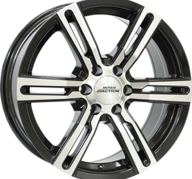 "18"" INTER ACTION KARGIN 6 - Gloss Black / Polished 8x18 - ET53"