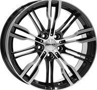 "19"" MONACO GP8 - Gloss Black / Polished 8x19 - ET42"