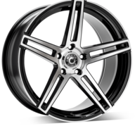 "19"" WRATH WHEELS WF1 - GLOSSY BLACK POLISHED FACE – FLOW FORMING"