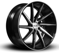 "19"" IMAZ WHEELS IM5 - LEFT/RIGHT - BLACK POLISHED"
