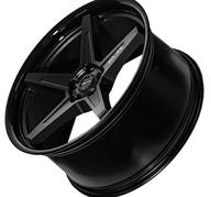 "19"" IMAZ WHEELS FF660 - BLACK / BLACK LIP"