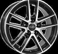 """18"""" ANZIO SPLIT - Gloss Black / Polished 8x18 - ET35"""