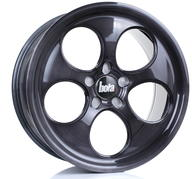 "18"" BOLA WHEELS B5 - BLACK BRUSHED POLISHED FACE"