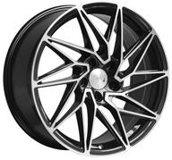 "18"" 1AV WHEELS - ZX10 - BLACK POLISHED FACE"