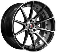 "19"" AXE WHEELS EX16 - Black Polished Face & Barrel"