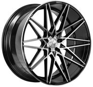 "22"" 1AV WHEELS - ZX4 - BLACK POLISHED FACE"