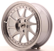 "18"" JAPAN RACING JR26 SILVER MACHINED"
