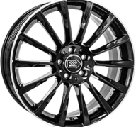 "19"" MILLE MIGLIA MM047 - Gloss Black / Polished lip 8x19 - ET45"