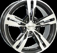 "19"" MONACO GP4 - Gloss Black / Polished 8,5x19 - ET30"