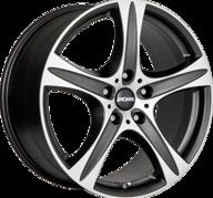 "17"" RONAL R55 SUV - Dull Black / Polished 7,5x17 - ET45"