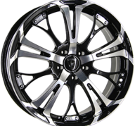 "17"" INTER ACTION POISON - Gloss Black / Polished 7x17 - ET35"