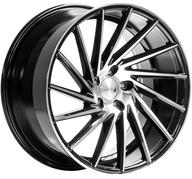 "19"" 1AV WHEELS - ZX1 - GLOSSY BLACK POLISHED FACE - LEFT/RIGHT"