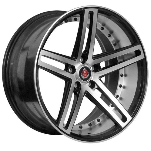"19"" AXE WHEELS EX20 - Black Polished Face & Barrel"