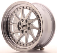 "16"" JAPAN RACING JR26 SILVER MACHINED"