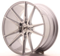 "21"" JAPAN RACING JR21 SILVER MACHINED"