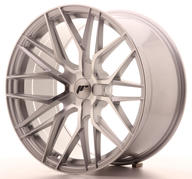 "22"" JAPAN RACING JR28 SILVER MACHINED"