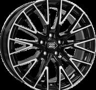 "17"" MILLE MIGLIA 1009 - Gloss Black / Polished 8x17 - ET40"
