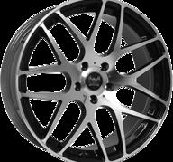 "19"" SOLEIL LXM-1 - Gloss Black / Polished 9,5x19 - ET45"