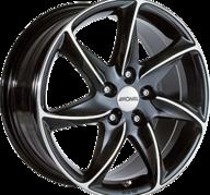 "15"" RONAL R51 - Gloss Black / Polished 6,5x15 - ET45"