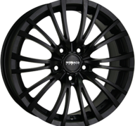 "18"" MONACO HAIRPIN - Dull Black 8x18 - ET35"