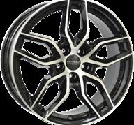 "18"" ANZIO SPARK - Gloss Black / Polished 8x18 - ET35"