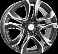 "18"" MONACO BEAU RIVAGE - Dull Black / Polished 8x18 - ET42"