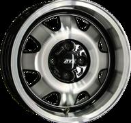 "18"" ATS CUP - Gloss Black / Polished 8x18 - ET48"