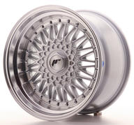 "17"" JAPAN RACING JR9 SILVER + SILVER RIVETS"