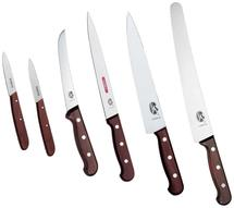 Köksset Victorinox (styck/puts), 6 knivar trä