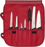 Knife roll nylon, 7-bin / RED