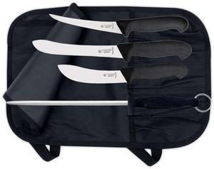 Jakt-/Slaktset Giesser, 3 knivar + stål
