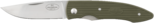 Folding knife PCmg, 73 mm CoS/green
