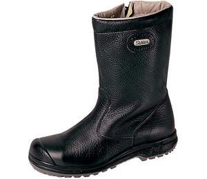 Stövel i läder, dragkedja/stålhätta (U)