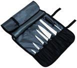 Knivfodral nylon, 7-facks / svart / bärrem