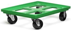 Backvagn 4hål botten, plast (B)
