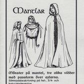 Mönster till historiska dräkter: Mantlar
