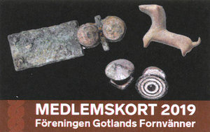 SPECIALERBJUDANDE! Medlemskap 2019 för en person i föreningen Gotlands Fornvänner