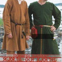Mönster till vikingatida klädedräkt: Skjorta och kjortel