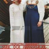 Mönster till vikingatida klädedräkt: Särk och hängselkjol